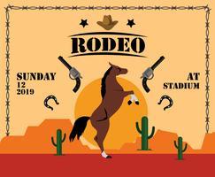 Rodeo Flyer Sjabloon Vector