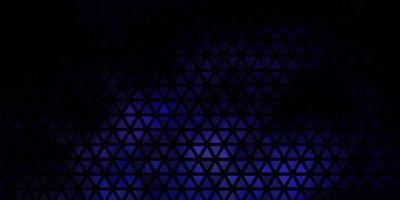 donkerroze, blauwe vectorachtergrond met lijnen, driehoeken. vector
