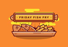 Vrijdag Vis Fry vector