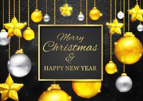 Gouden Kerstgroetkaart vector