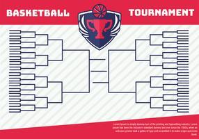 Basketbaltoernooi beugel poster vector