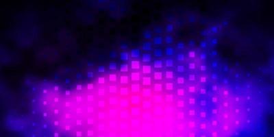 donkerroze, blauwe vectorachtergrond met rechthoeken. vector