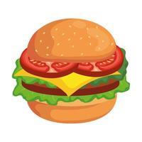 hamburger eten pictogram vector ontwerp