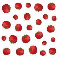 tomaten verse groenten gezond patroon vector
