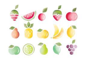 Vector aquarel vruchten