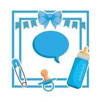 baby shower card frame uitnodiging