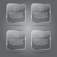 Transparante glanzende banners Infographics