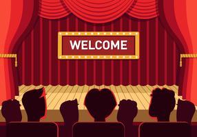 theater podium vector
