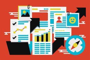 bedrijfsstatistieken rapporteren abstracte vectorillustratie