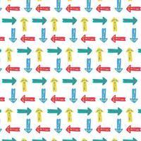 pijl, aanwijzer vector naadloze patroon