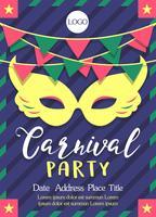 Carnaval Poster sjabloon Vector