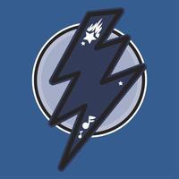 donder blauwe kleur illustratie vector