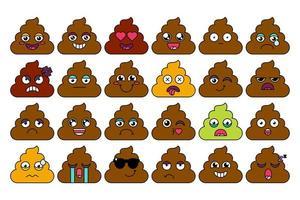 drol, kak emoji-stickerset vector