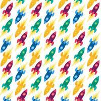 raketten, ruimteschepen vector naadloze patroon