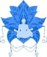 yoga, spirituele therapie illustratie