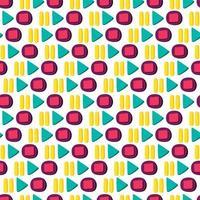 media player knoppen plat naadloos patroon vector