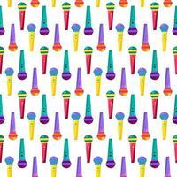 microfoon plat naadloos patroon vector