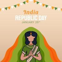 hand getrokken illustratie van de dag van de Indiase republiek