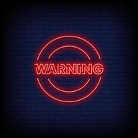 waarschuwing neon tekenen stijl tekst vector
