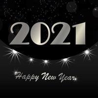 Nieuwjaarsviering wenskaart vector