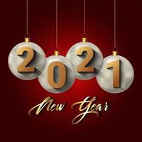 creatieve achtergrond voor gelukkig nieuwjaar 2021 vector