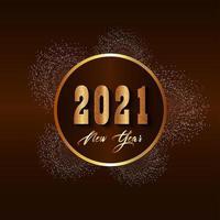 gouden teksteffect voor nieuwe jaarviering vector
