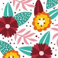 patroon van bloemen op een witte achtergrond