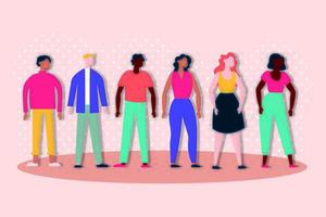 groep interraciale mensen, inclusieconcept