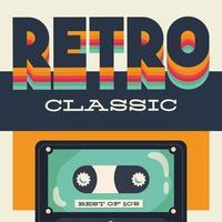 retro-stijl partij poster met cassettebandje vector