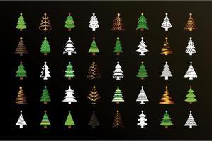 bundel kerstbomen vector