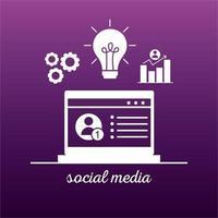 bundel van vier social media block-stijliconen vector