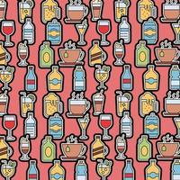 dranken patroon achtergrond vector