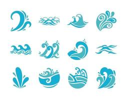 golven en water pictogramserie