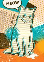 Cat pop-art vector