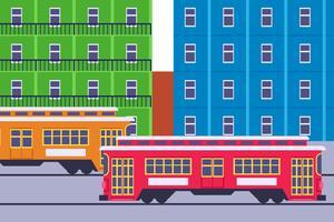 uitstekende new carrousel streetcar-vectoren