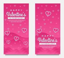 mooie gelukkige Valentijnsdag groet banner achtergrond met hartjes vector