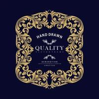 gouden sieraad luxe frame vector
