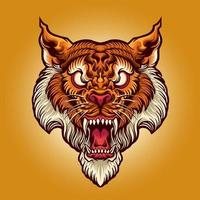 tijger hoofd tattoo illustratie vector