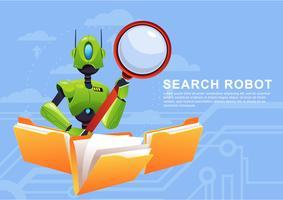 Zoeken Ai Robot vector