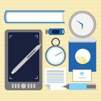Vector Office Desktop-elementen