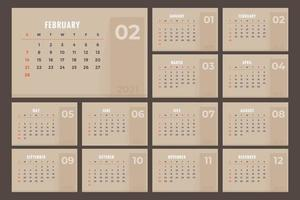 bruine kalender 2021