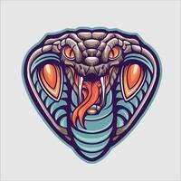 king cobra hoofd mascotte vectorillustratie