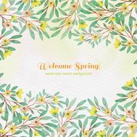 Vector aquarel voorjaar achtergrond
