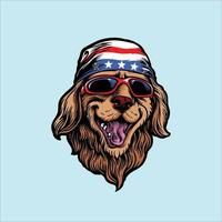 Amerikaanse dieren grappige hond vector