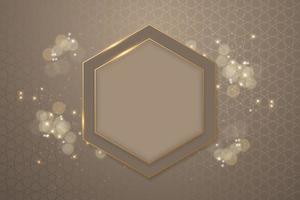 glanzende achtergrond ramadan concept met frame vector