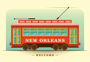 Tram van New Orleans vector