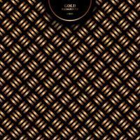 abstracte gouden geometrische dwarspatroon gewaagde lijn op zwarte achtergrond en textuur. vector