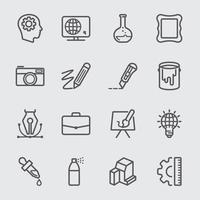 creatieve lijn iconen set