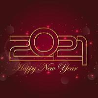 creatieve gouden tekst voor gelukkig nieuw jaar 2021 vector