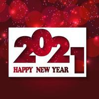 rood sparkle-teksteffect voor nieuwe jaarviering vector
